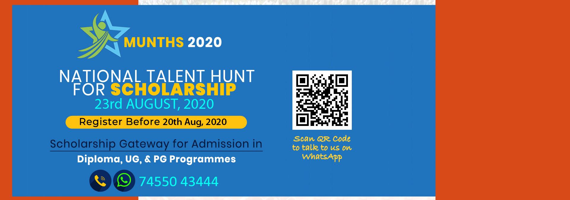Online Scholarship Test - MUNTHS 2020